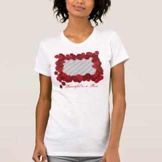 Camiseta adaptable de la foto del pétalo color de