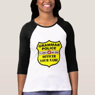 Camiseta adaptable de la policía de la gramática remeras