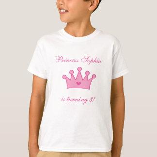 Camiseta adaptable de la princesa del cumpleaños