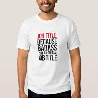 Camiseta adaptable del cargo de Badass Playeras