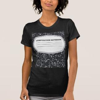 Camiseta adaptable del cuaderno de la composición