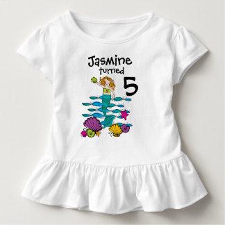 Camiseta adaptable del cumpleaños de la sirena playeras