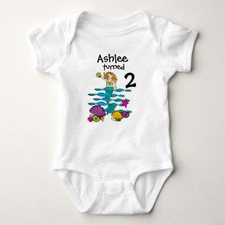 Camiseta adaptable del cumpleaños de la sirena poleras
