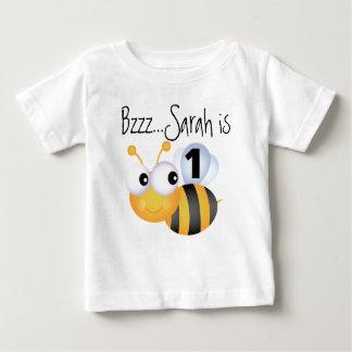 Camiseta adaptable del cumpleaños del abejorro del remera