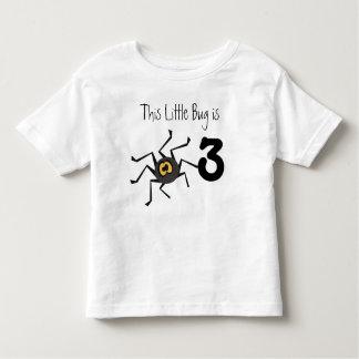Camiseta adaptable del cumpleaños del insecto de polera