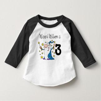 Camiseta adaptable del cumpleaños del mago mágico