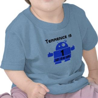 Camiseta adaptable del cumpleaños del robot