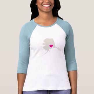Camiseta adaptable del estado de Alaska Playera