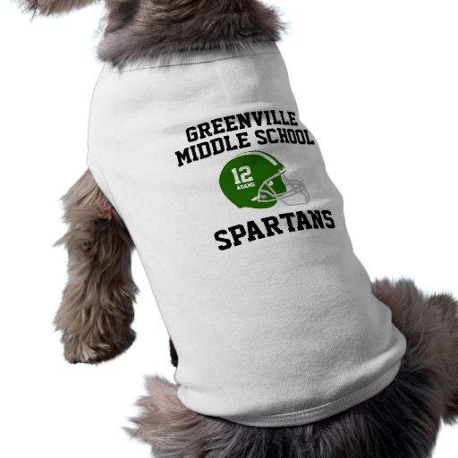 Camiseta adaptable del perro del equipo de fútbol  camisas de mascota