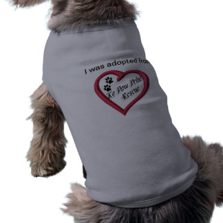 Camiseta adoptada del perro camiseta de perro