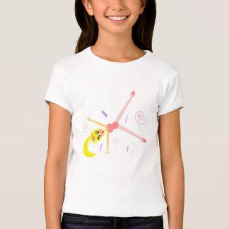 Camiseta adorable de la gimnasia de los chicas
