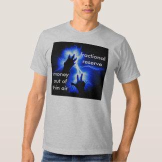 Camiseta adulta de la reserva fraccionaria poleras