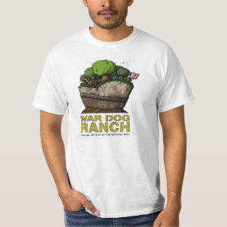 Camiseta adulta del rancho del perro de la guerra playeras