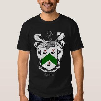Camiseta adulta oscura del escudo adoptivo de la playeras