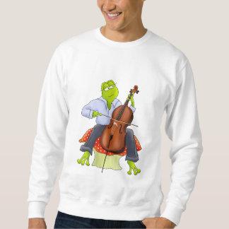 Camiseta adulta unisex de la rana del violoncelo sudaderas
