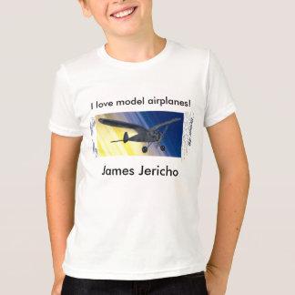 ¡Camiseta - aeroplanos modelo del amor de I! con Playera