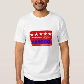 Camiseta aficionada del operador de radio playeras