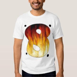 Camiseta afortunada #8 del número ocho camisas