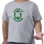 Camiseta afortunada del encanto del niño, irlandés