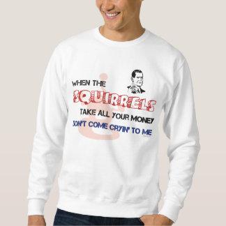 Camiseta afortunada del póker de la ardilla suéter