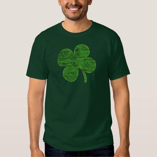 Camiseta afortunada del trébol de la Cuatro-Hoja Polera