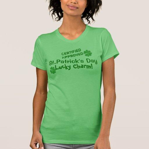 ¡Camiseta afortunada irlandesa del encanto! St. El