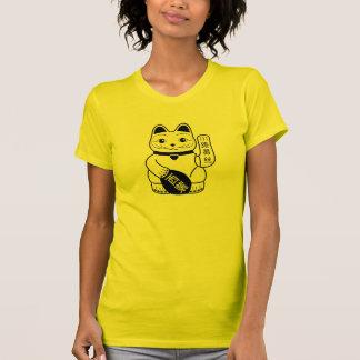 Camiseta afortunada japonesa del pictograma del polera