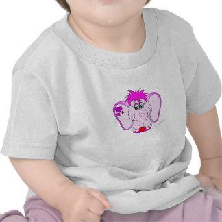 Camiseta afortunada linda del niño del meñique