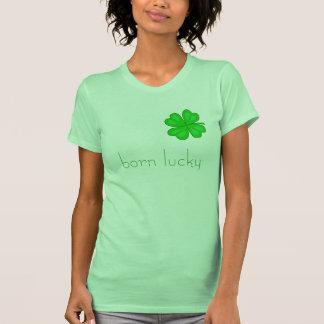 camiseta afortunada nacida - modificada para requi