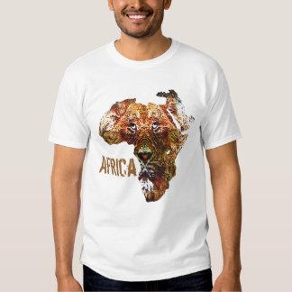 Camiseta africana del león playeras