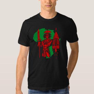 CAMISETA AFRICANA DEL RGB DEL GUERRERO REMERAS