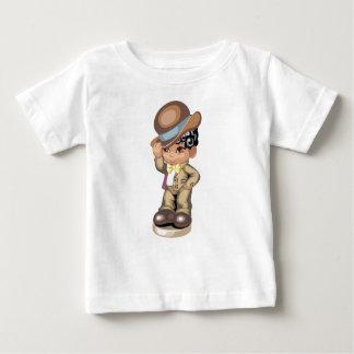 Camiseta afroamericana del niño del muchacho