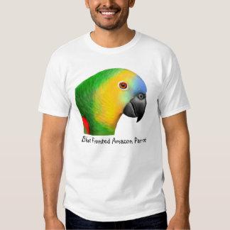 Camiseta afrontada azul del loro del Amazonas Playeras