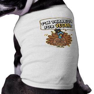 Camiseta agradecida del perro/del mascota de Turqu Playera Sin Mangas Para Perro