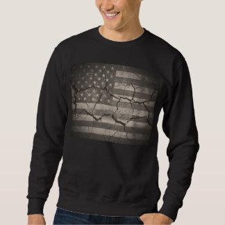 Camiseta agrietada de la pared de la bandera