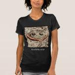 Camiseta agusanada de la sonrisa