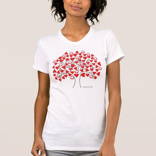 Camiseta ajustable del blanco del árbol del