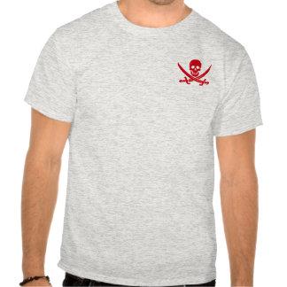 Camiseta alegre de Rogelio del pirata de la espada