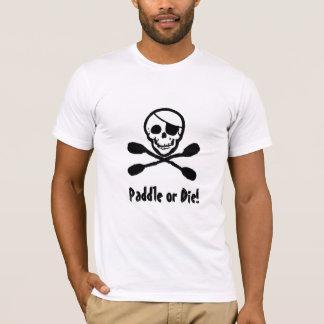 Camiseta alegre de Rogelio del pirata del kajak