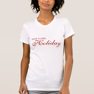 Camiseta alegre del blanco del día de fiesta