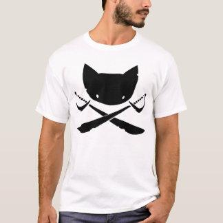 Camiseta alegre del pirata del gatito