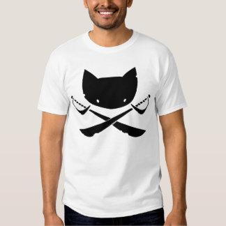 Camiseta alegre del pirata del gatito poleras