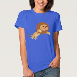 Camiseta alegre linda de las mujeres del león del poleras