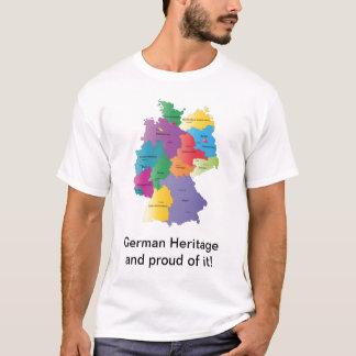 Camiseta alemana de la herencia del mapa