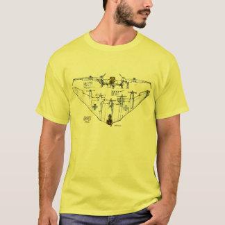 Camiseta alemana del avión de combate del ala de