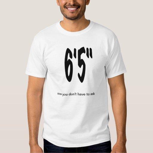 """Camiseta alta 6' 5"""" de la persona playera"""