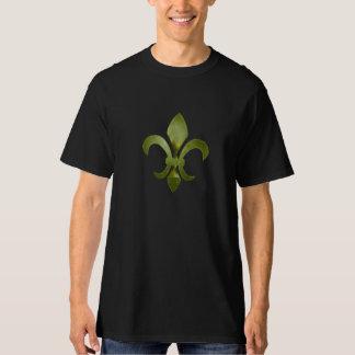 Camiseta alta torcida de la flor de lis