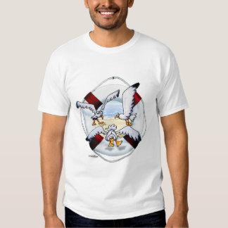 Camiseta altísima de las gaviotas playera