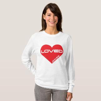 Camiseta amada del corazón