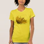 Camiseta amarilla de la esquina del girasol